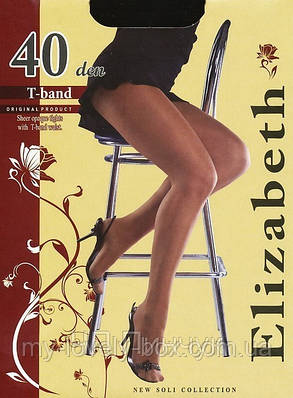 Колготки Elizabeth 40 den t-band Natural р.5 (00116/50)   50 шт., фото 2