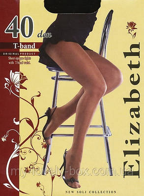 Колготки Elizabeth 40 den t-band Visone р.5 (00116/50) | 50 шт., фото 2