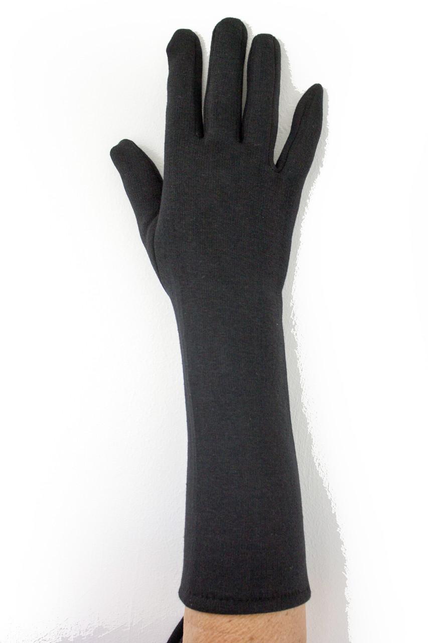 Женские стрейчевые перчатки 33 см БОЛЬШИЕ