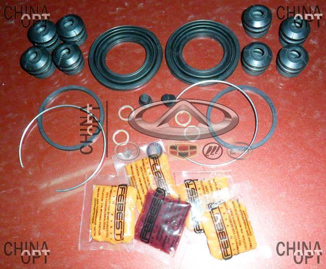 Ремкомплект тормозного суппорта переднего, с ABS, на два суппорта, Geely CK2, 1402136180RK, Febest