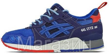 Мужские кроссовки Asics Gel Lyte 3 Асикс Гель Лайт 3 синие, фото 2