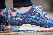 Мужские кроссовки Asics Gel Lyte 3 Асикс Гель Лайт 3 синие, фото 3