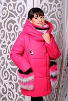 Яркая курточка для девочки Фиона  малина
