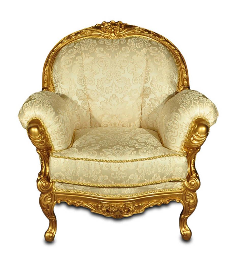 Стильное кресло с резьбой Ника (95 см)