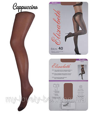 Колготки Elizabeth 40 den Bikini Charm Cappuccino р.4 (00120/50) | 50 шт., фото 2