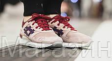 Мужские кроссовки Asics Gel Lyte 3 Асикс Гель Лайт 3 бежевые с красным, фото 3