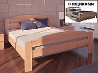 """Кровать из натурального дерева """"Гавана с ящиками ТМ ХМФ"""