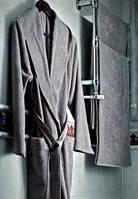 Халат кашемировый с капюшоном с антибактериальной защитой L/XL