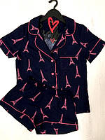 Комплект рубашка и шорты, женская пижама