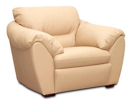 Стильное кожаное кресло ЭЛЕГИЯ (120 см), фото 2