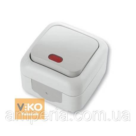 Выключатель 1-кл c подсветкой ViKO Palmiye 90555419