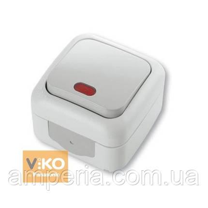Выключатель 1-кл c подсветкой ViKO Palmiye 90555419, фото 2