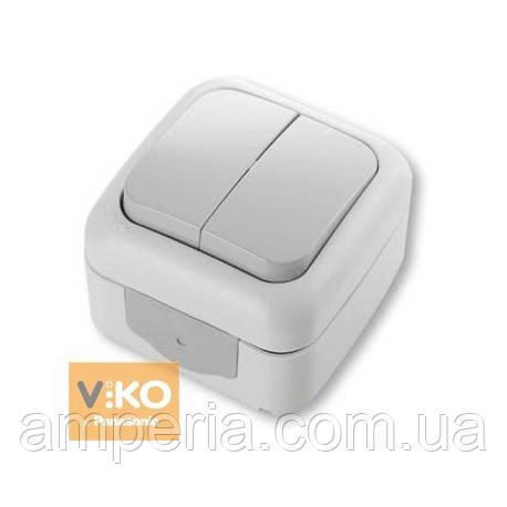 Выключатель 2-кл ViKO Palmiye 90555402