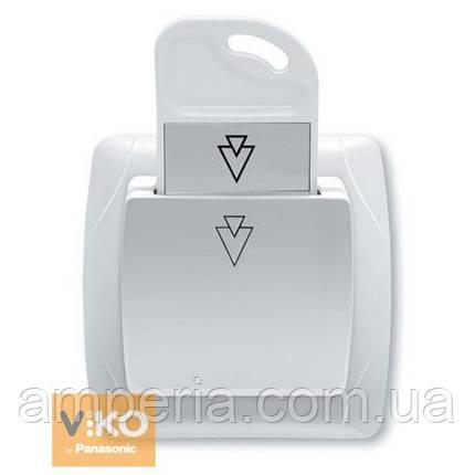 Карточный выключатель белый ViKO Carmen 90561051, фото 2