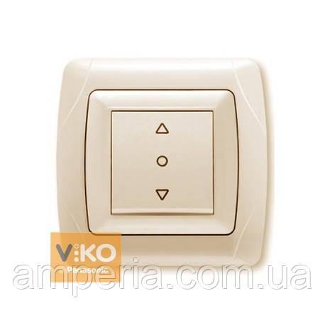 Кнопочный выключатель жалюзи 1-кл. крем ViKO Carmen 90562072