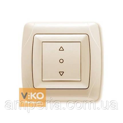 Кнопочный выключатель жалюзи 1-кл. крем ViKO Carmen 90562072, фото 2