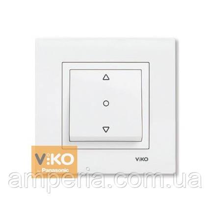 Кнопочный выключатель жалюзи 1-кл. белый ViKO Karre 90960072, фото 2