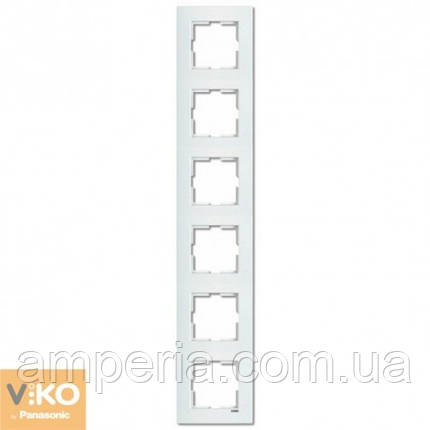 Рамка 6-я вертикальная белая ViKO Karre 90960225, фото 2