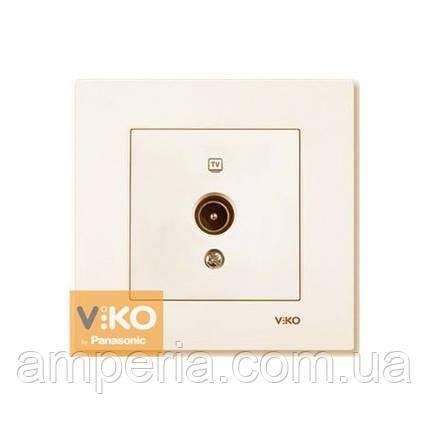 Розетка TV концевая крем ViKO Karre 90960109, фото 2