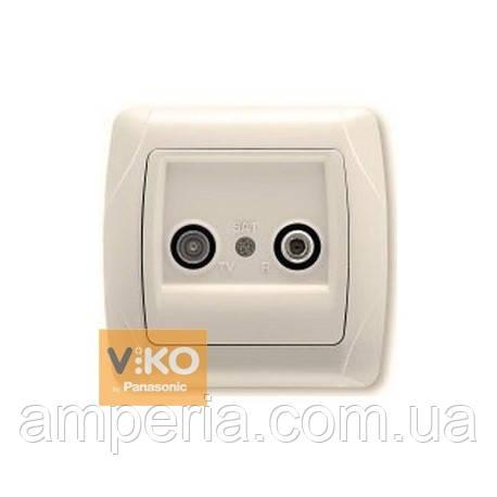 Розетка TV+SAT крем ViKO Carmen 90562085