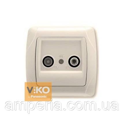 Розетка TV+SAT крем ViKO Carmen 90562085, фото 2