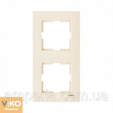 Рамка 2-я вертикальная крем ViKO Karre 90960231, фото 2
