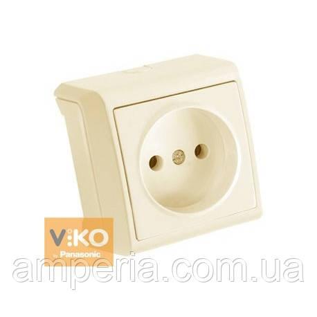 Розетка без заземления крем ViKO Vera 90681207