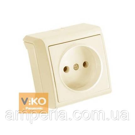 Розетка без заземления крем ViKO Vera 90681207, фото 2