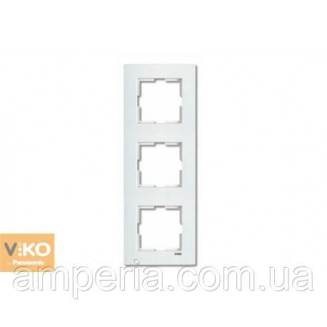 Рамка 3-я вертикальная белая ViKO Karre 90960222