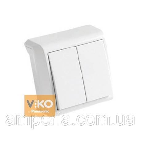 Выключатель 2-кл. белый ViKO Vera 90681002