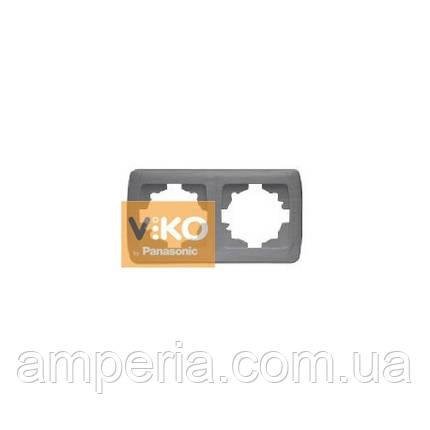 Рамка 2-я горизонтальная серебро ViKO Carmen Decora 93190402, фото 2