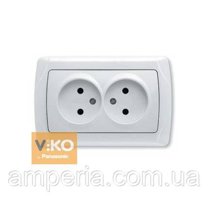Купить Розетка 2-ая без заземления ViKO Carmen 90561055  продажа ... 99e1d93af09