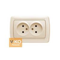Розетка 2-ая без заземления ViKO Carmen 90562055