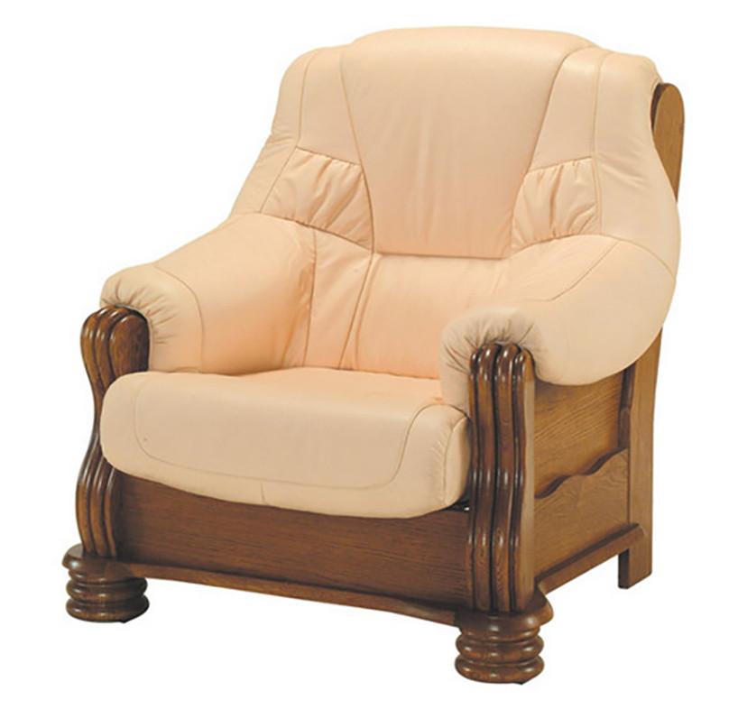 Класичне шкіряне крісло ADAM (90 см)