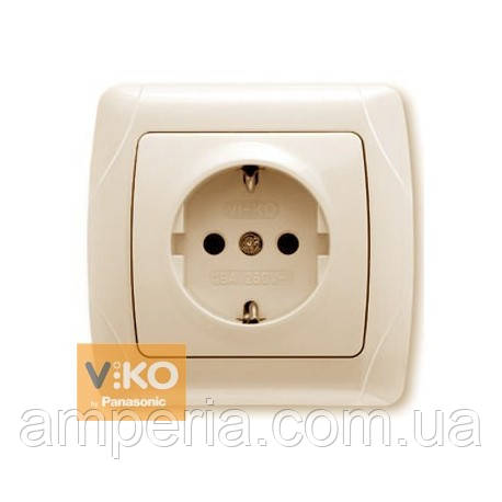 Розетка с заземлением крем ViKO Carmen 90562008