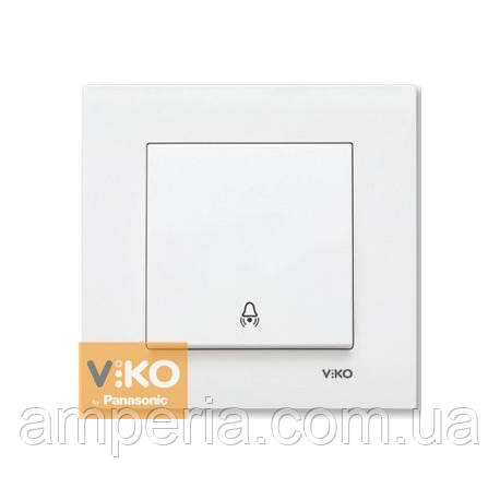 Кнопка  звонка белая ViKO Karre 90960006
