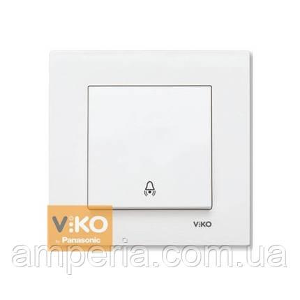 Кнопка  звонка белая ViKO Karre 90960006, фото 2