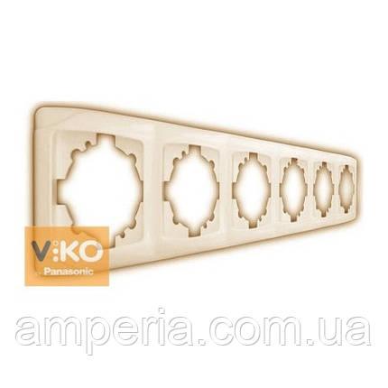 Рамка 5-я горизонтальная крем ViKO Carmen 90572105, фото 2
