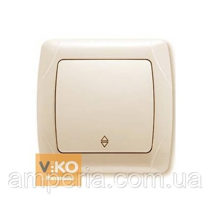 Выключатель 1-кл. проходной крем ViKO Carmen 90562004, фото 2
