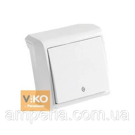 Выключатель 1-кл. белый проходной ViKO Vera 90681004, фото 2