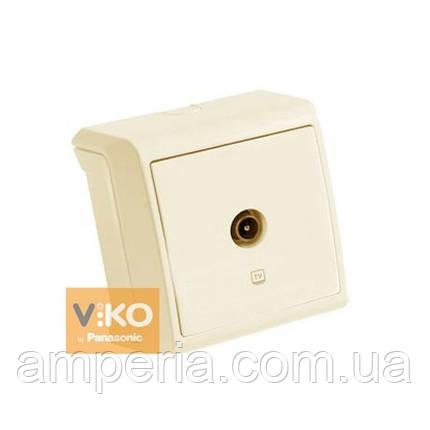 Розетка TV концевая крем ViKO Vera 90681210, фото 2