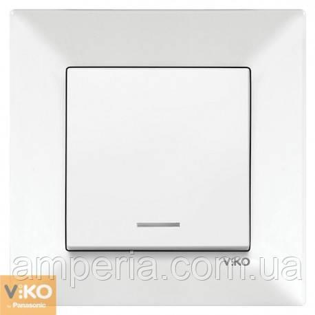 Выключатель 1 кл. с подсветкой белый Meridian 90970019-WH