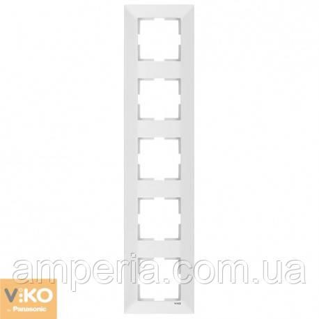 Рамка 5-я вертикальная белый Meridian 90979025-WH
