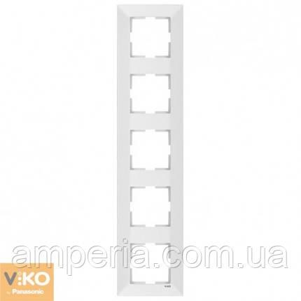 Рамка 5-я вертикальная белый Meridian 90979025-WH, фото 2