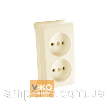 Розетка без заземления 2-ая крем ViKO Vera 90681255