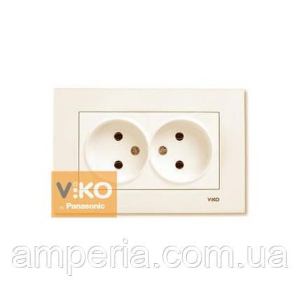 Розетка 2-ая без заземления ViKO Karre 90960155, фото 2