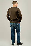 Мужской свитер с декоративными пуговицами Себостьян, цвет коричневый / размерный ряд 50,52, фото 3