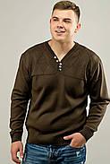 Мужской свитер с декоративными пуговицами Себостьян, цвет коричневый / размерный ряд 50,52, фото 2