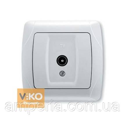 Розетка TV проходная белая ViKO Carmen 90561060, фото 2