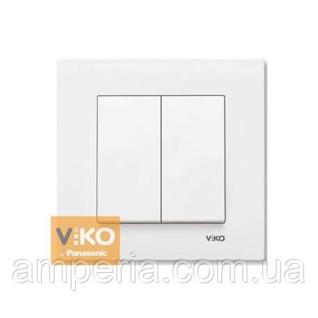 Выключатель 2-кл.белый ViKO Karre 90960002